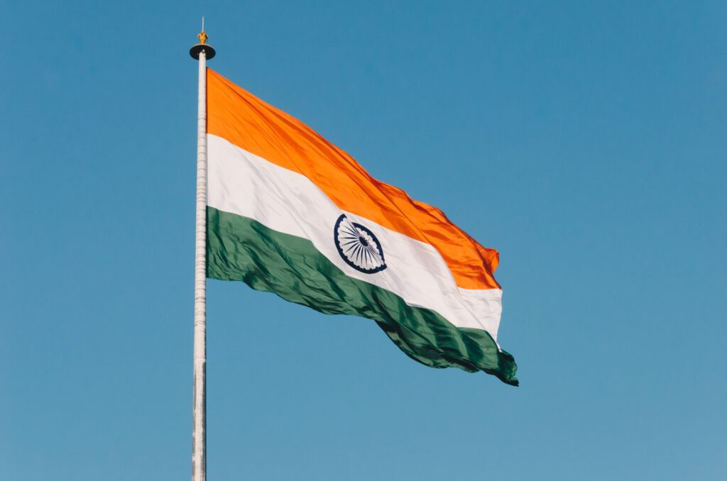 Indian flag. Photo by Naveed Ahmed on Unsplash
